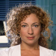 Actress Alex Kingston as ER Doctor Corday