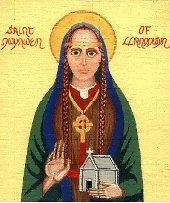 A medieval portrait of St Dwynwen